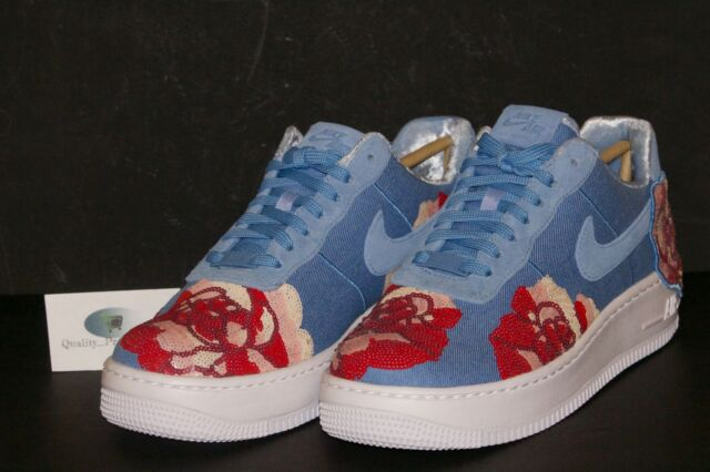 67717a5307f Nike W Af1 Upstep LX Lux Floral Sequin Air Force 1 December Sky Women  898421-402 7.5 for sale online