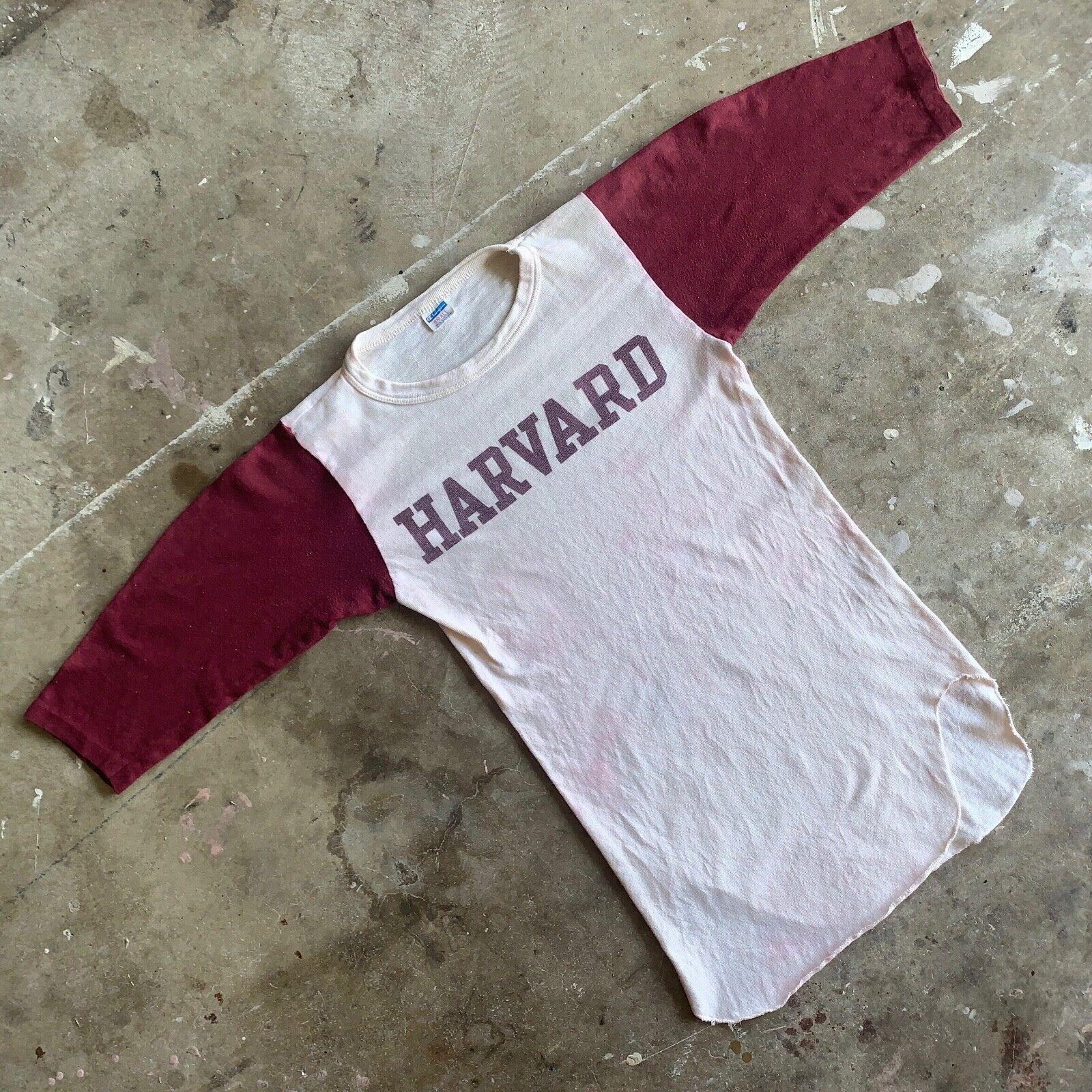 70s VINTAGE HARVARD UNIVERSITY RAGLAN T-SHIRT SZ … - image 3
