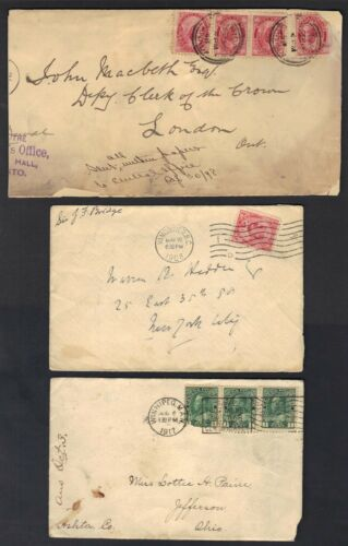 CANADA 190050s COLLECTION OF 18 MOSTLY COMMERCIAL COVER A COUPLE FDCs MIXED