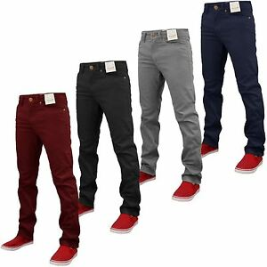 Details about NEW MENS DESIGNER STRETCH CHINO SKINNY SLIM FIT JEANS TROUSER PANTS ALL SIZES