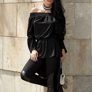 Camicetta donna donnatop Strass m Xs Alina Tunica Da Crochet da Longshirt Dress ZSwOxgq7