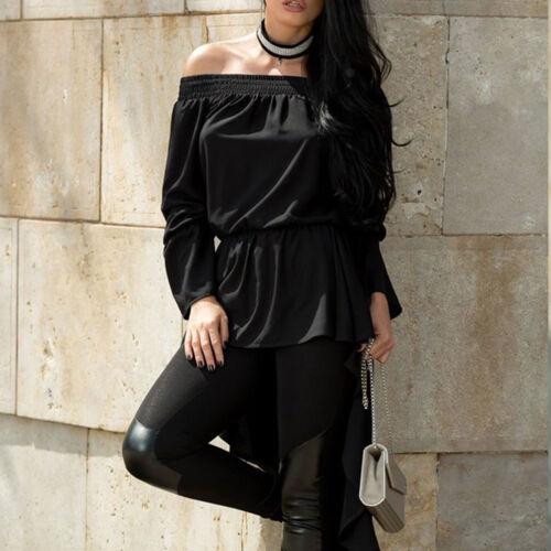 By Alina Damen Bluse Longshirt Damentop Kropfband Tunika Strass kleid XS-M