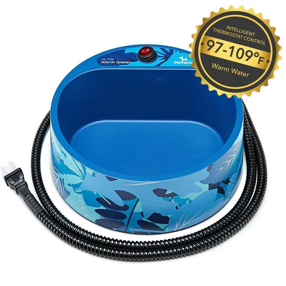 Outdoor Dog Water Bowl for Small to Large Dogs PETLESO Heated Dog Water Bowl