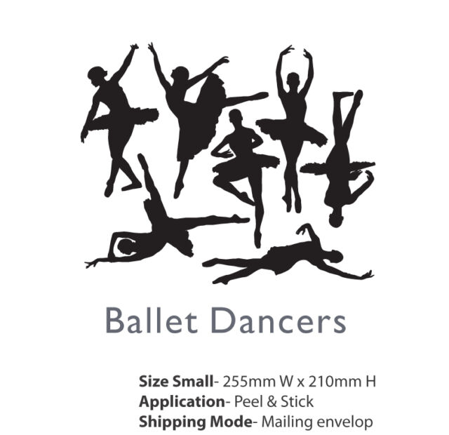 Ballet Dancers Wall Decor removable sticker for Kids Room Girls Room Home Decor