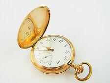 prunkvolle goldene 585 Sprungdeckeltaschenuhr um 1900 Savonette (D57)