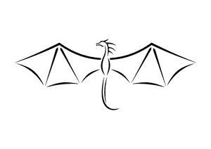 Simple-Sketched-Dragon-stencil-350-micron-Mylar-not-thin-stuff-TaT004