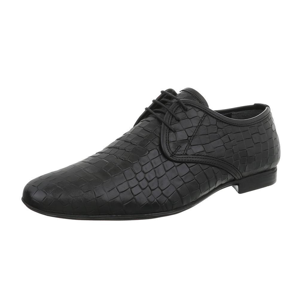 acquisti online Pelle Lacci Business-Scarpe Scarpe da uomo Nuovo Designer Taglia Taglia Taglia 42 nere 0765  ti aspetto