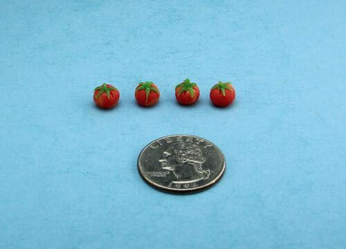 Set of 4 Dollhouse Miniature Realistic Tomatoes 1:12 Scale #LVEG013
