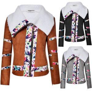 Femmes-fermez-sweat-a-capuche-veste-floral-toison-manteau-outwear-TK