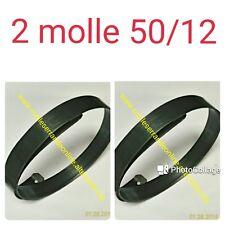Due Molle per serranda in acciaio armonico piegato e forato , misura 50/13