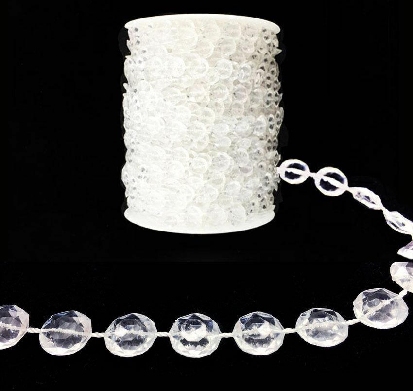 122 183 274m Girlande Diamant Strand Acryl Kristall Perlen Hochzeit Dekoration
