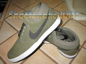 Nike SB PROD 5 Mid Olive Black White Paul Rodriguez Lunarlon 8 ...