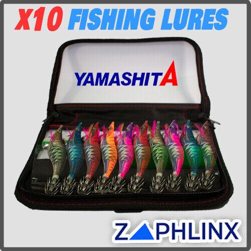 Japan Yamashita x10 Calamari Squid Jig Fishing Lures Egi OH Glow 450 /& Case Pack