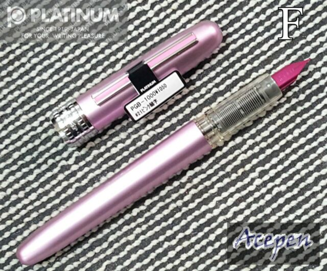 Platinum PGB-1000 PLAISIR 0.3 F fountain pen PINK+ 2 cartridges Black ink