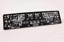 1 Pair For BMW M POWER E39 E46 E60 E90 E91 License Number Plate Holder Frame New