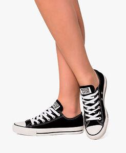 Women Converse Shoes 10.5 Black All