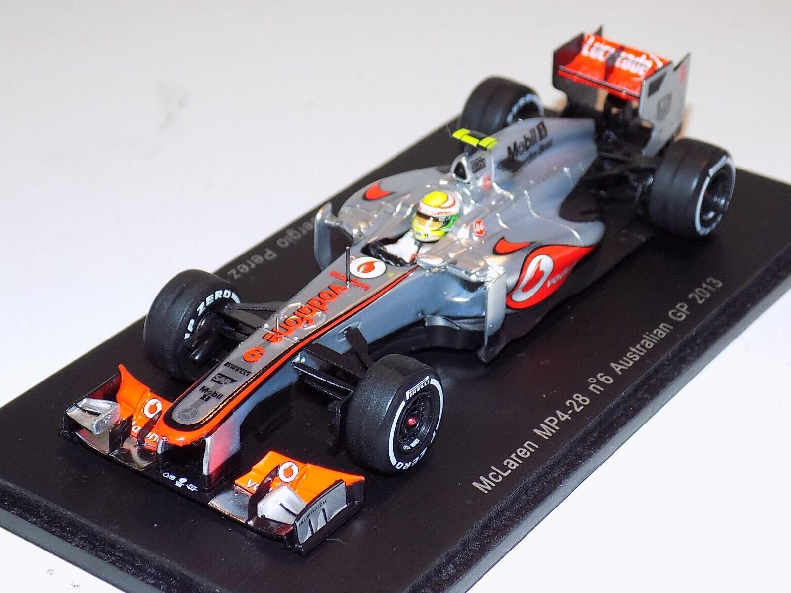 1 43 Spark McLaren Pistolets mitrailleurs 4-28 Mercedes Voiture  4 Grand Prix d'Australie 2013 Perez S3051