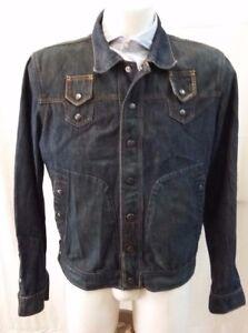 scarpe sportive 29586 e4be3 Dettagli su giacca jacket giubbotto jeans rare uomo Diesel taglia L
