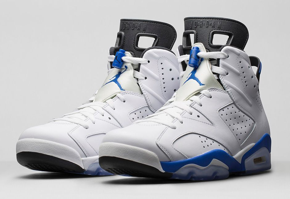 BRAND NEW 2014 NIKE AIR JORDAN RETRO 6  Sport bluee  UK7.5 EU42