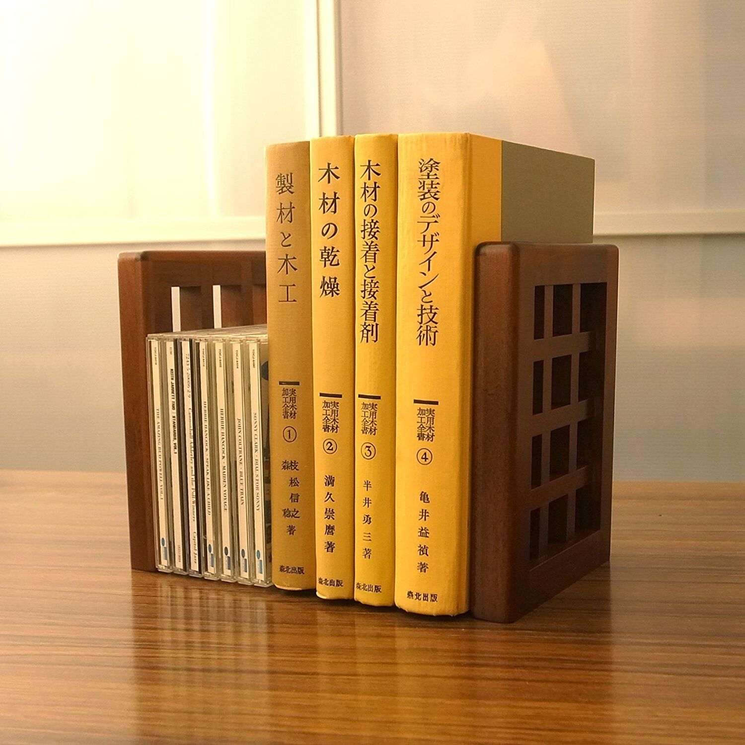 Wooden Collection Book End End End High Quality Made in Japan Toyooka bb779b