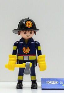 Pompiere Firefighter Playmobil Figures 12 Boys 9241 Per Pompieri USA - Raro