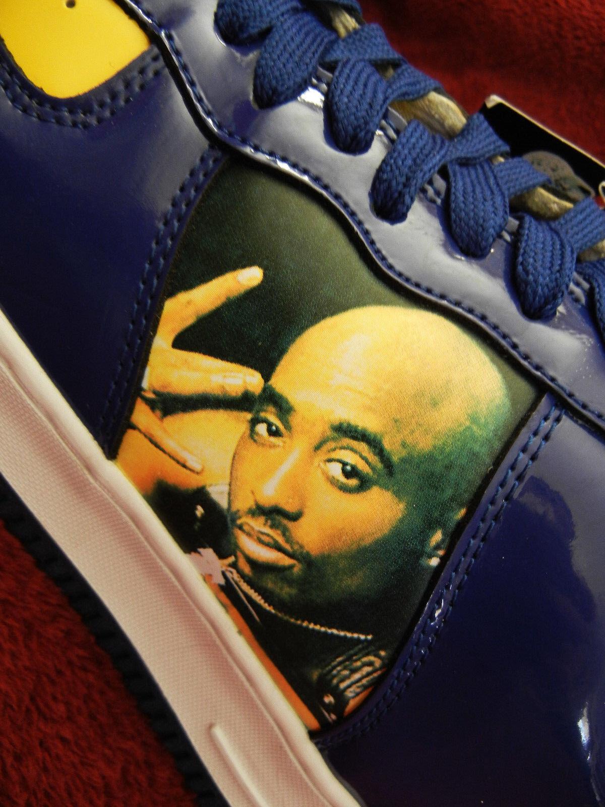 2PAC Makaveli #GOLDEN STATE WARRIORS size 12 scarpe da ginnastica Tupac DEMETRI  SHIPP JR.