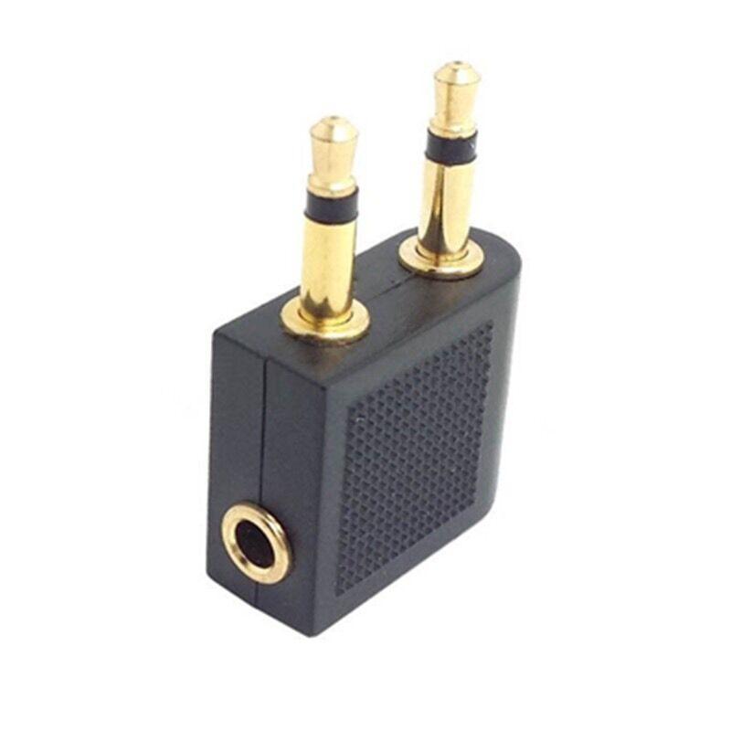 3.5mm Airplane Earphones Adaptor Headphone Socket Converter Adapter Jack Plug