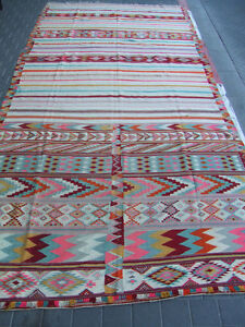 Antiques Have An Inquiring Mind Special Original Moroccan Kilim Rug Antique Hand Woven 440x196-cm/173.2x77.1-inc