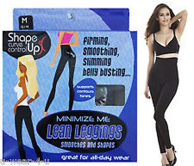 LADIES MINIMIZE ME LEAN SLIMMING CONTOL LEGGINGS CURVE CONTROL BLACK