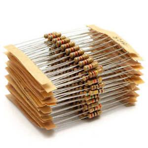 300pcs-30value-1ohm-3M-ohm-1-2W-Carbon-Film-Resistor-Capacitor-Assortment-Kits