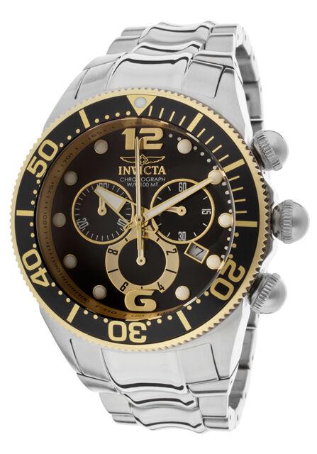 New Mens Invicta 14197 Lupah Chronograph Steel Bracelet Watch