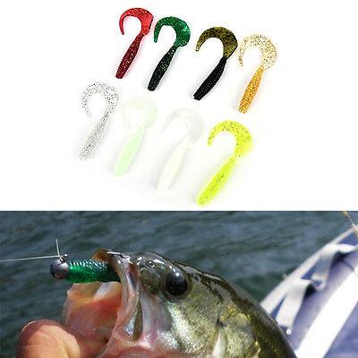 12x  Fishing Soft Lure Grub Worm Soft Baits 1.1g Soft Silicone Lure Grub Carp SP
