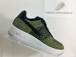 Nike Air Force 1 FliKnit Low Green Black Womens 820256 004 Us Size 6 ... 5b701d0773