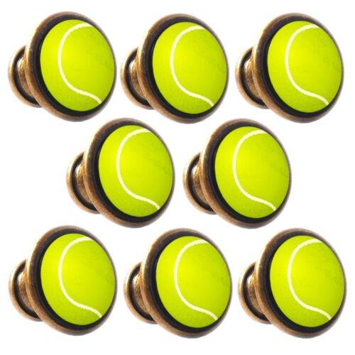 Zinc Alloy Knobs Tennis Ball 30mm Cupboard Drawer Door Handles Decorated