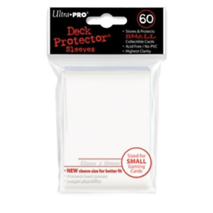 White Ultra Pro Deck Protector Card Sleeves Pack of 60 Small