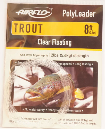 AIRFLO Polyleader TROUT 8ft 2,40Mtr.  CLEAR FLOATING