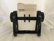 Vintage Rolodex Rbc 400 Black Flip Business Card File 198 Blank Inserts Usa Made