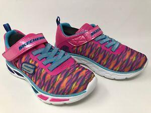 Details about New!! Girl's Toddler Skechers S LIGHTS: LITEBEAMS COLORBURST 10767L Pink 44T
