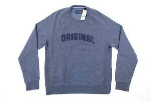 Penguin Décoré Rond An Pull L Original Bleu Col Taille Sweatshirt 5w7A1qF6