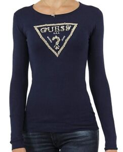 2018 Collection Guess Authentique Col T Femme s Pull Rond WRSP0Oqqw