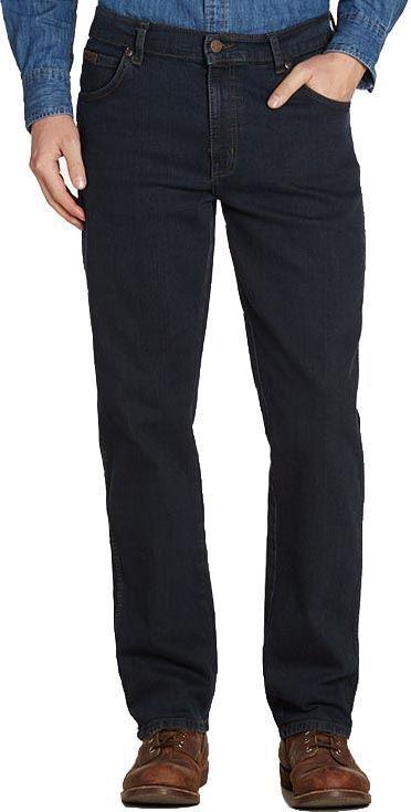 WRANGLER Texas Stretch Blu Nero Jeans In Girovita 30 a 48 pollici, L26 a 34