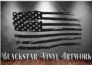 "USA FLAGS CAMPERVAN DAYVAN GMC ASTRO ECONOLINE CHEVY DODGE JEEP DECALS 38/"" X 21/"""