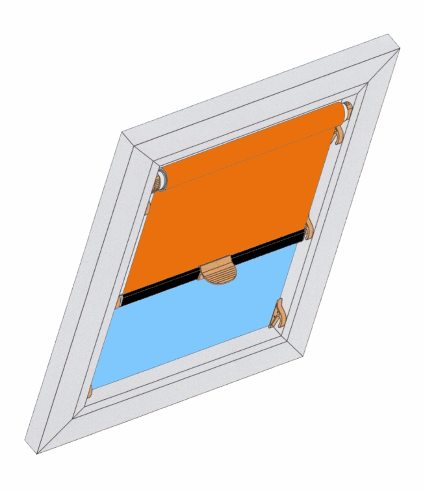 ROLLO DBS Dachfensterrollo Hitzeschutz Verdunkelung Braas Delta Atelier BA DA AF   München    Sale Deutschland