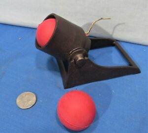 Kilgore ~ Cast Iron Fire Cracker Cannon and 2 New Rubber Balls