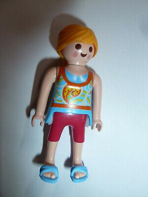 Playmobil Black girl in dress NEW Beach//Dollshouse//swimming pool child figure