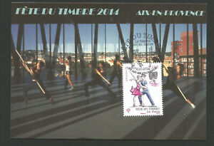 France Carte Maximum 2014 Fête Du Timbre Aix En Provence /t6879