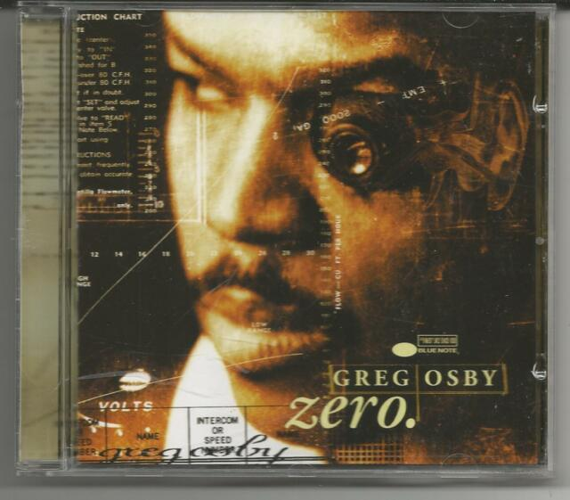 "Greg Osby ""Zero"" CD 1998 EMI Capitol/ Blue Note - NEU/NEW"