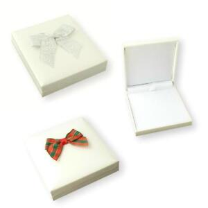 Details About White Jewellery Gift Box For Necklace Or Bracelet Large Letter Posting Hinged