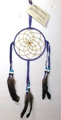 "Dreamcatcher Native American made Purple 5"" dia hoop FREE SHIPPING #408"