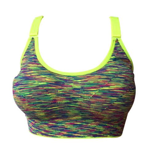 Lady Push Up Yoga Gym Sports Running Bra Girls Seamless Wire Free Underwear Hot